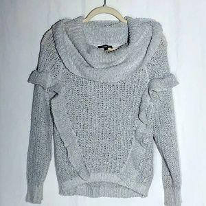 Express -  Ruffle Cowl Neck Sweater